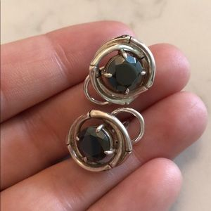 John Hardy Graphite and Silver Stud Earrings